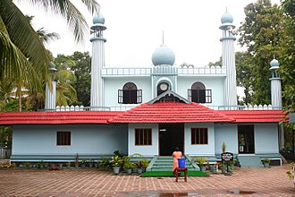 Islam in India - Cheraman Perumal Juma Masjid on the Malabar Coast, probably the first Mosque in India.