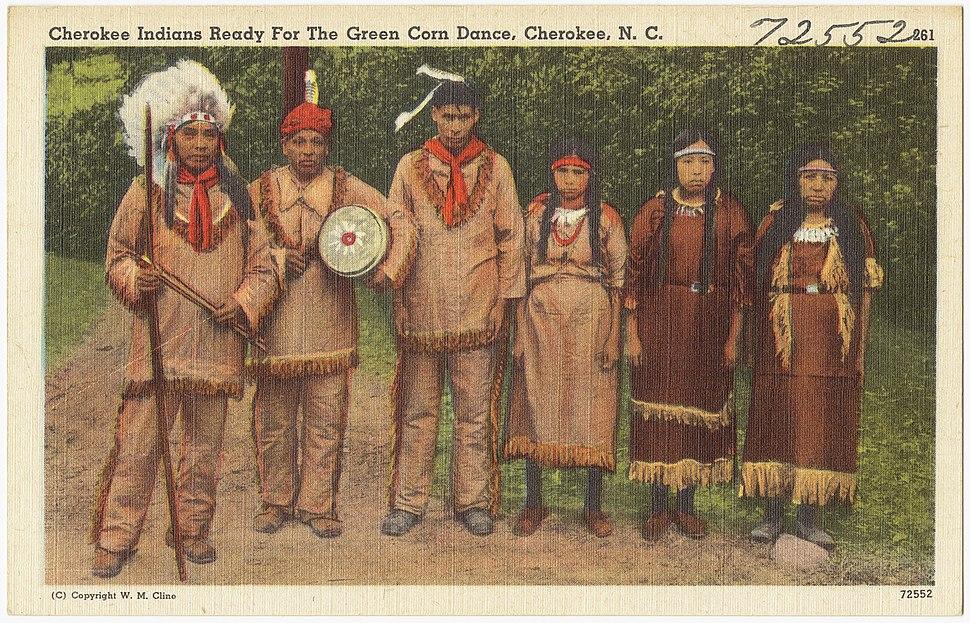 Cherokee Indians ready for The Green Corn Dance, Cherokee, N. C. (5755511285)
