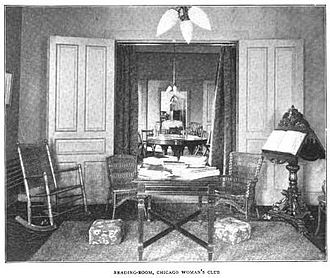 Chicago Woman's Club - Reading Room of the Chicago Woman's Club.