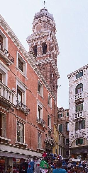San Bartolomeo, Venice - The entrance and the bell-tower of San Bartolomeo