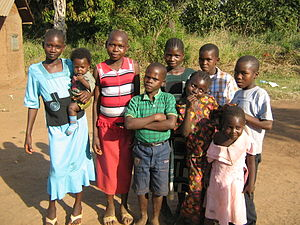 Children in Yambio, Western Equatoria, South Sudan (28 05 2009)