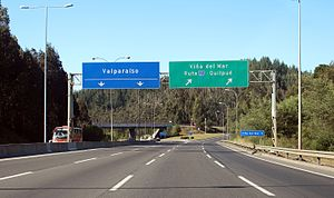 Chile Route 68 - Route 68 at the junction with Route 60