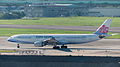China Airlines Airbus A330-302 B-18307 Taxiing at Taipei Songshan Airport Apron 20140729.jpg