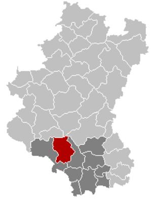 Chiny - Image: Chiny Luxembourg Belgium Map