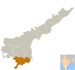 Location of Chittoor district