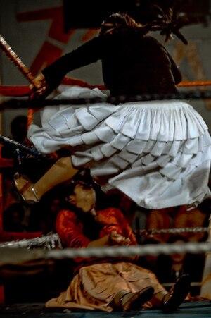 Women's professional wrestling - Bolivian Fighting Cholitas dressed in Aymara folk costumes
