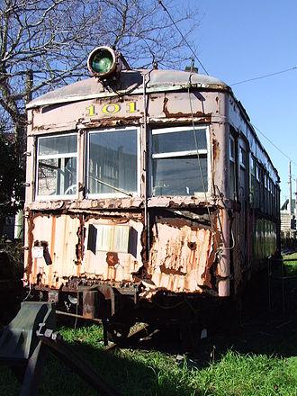 Choshi Electric Railway 100 series - DeHa 101 dumped at Kasagami-Kurohae Station, December 2006