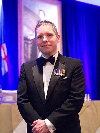 Christopher McCreery - McCreery in black tie at a gala dinner celebrating the Diamond Jubilee of Queen Elizabeth II, hosted by St. John Ambulance in Edmonton, Alberta