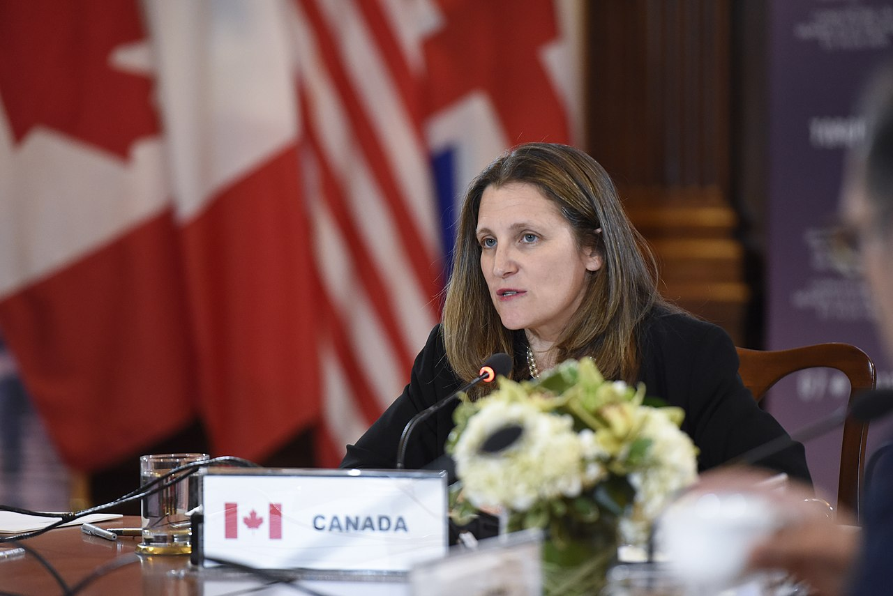 File:Chrystia Freeland at the G7 Foreign Ministers' Working