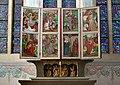 Church of Our Lady Assumed into Heaven and St. Vaclav, main altar-reredos, pentaptych ca. 1514 (season of Lent), 11 Klasztorna street, Mogiła, Nowa Huta, Krakow, Poland.jpg