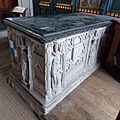 Church of St John, Finchingfield Essex England - South chapel Berners tomb 2.jpg