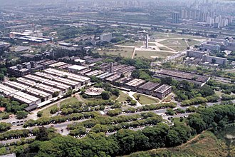 University of São Paulo - Aerial view of the university. The buildings on center are part of the IQ – Institute of Chemistry, Chemical Engineering and Pharmacy.