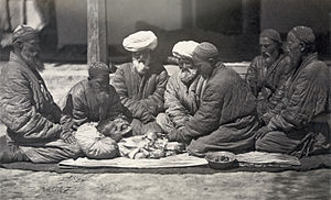 """Customs of Central Asians. Circumcision...."