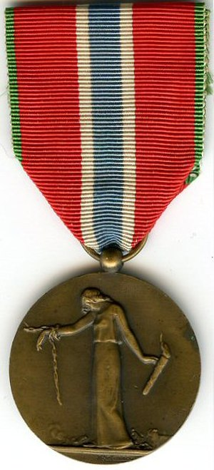 Medal for civilian prisoners, deportees and hostages of the 1914-1918 Great War - Image: Civils deportes et otages ww 1
