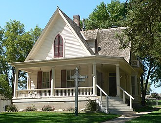 National Register of Historic Places listings in Clay County, Nebraska - Image: Clark House (Sutton, Nebraska) from SE 1