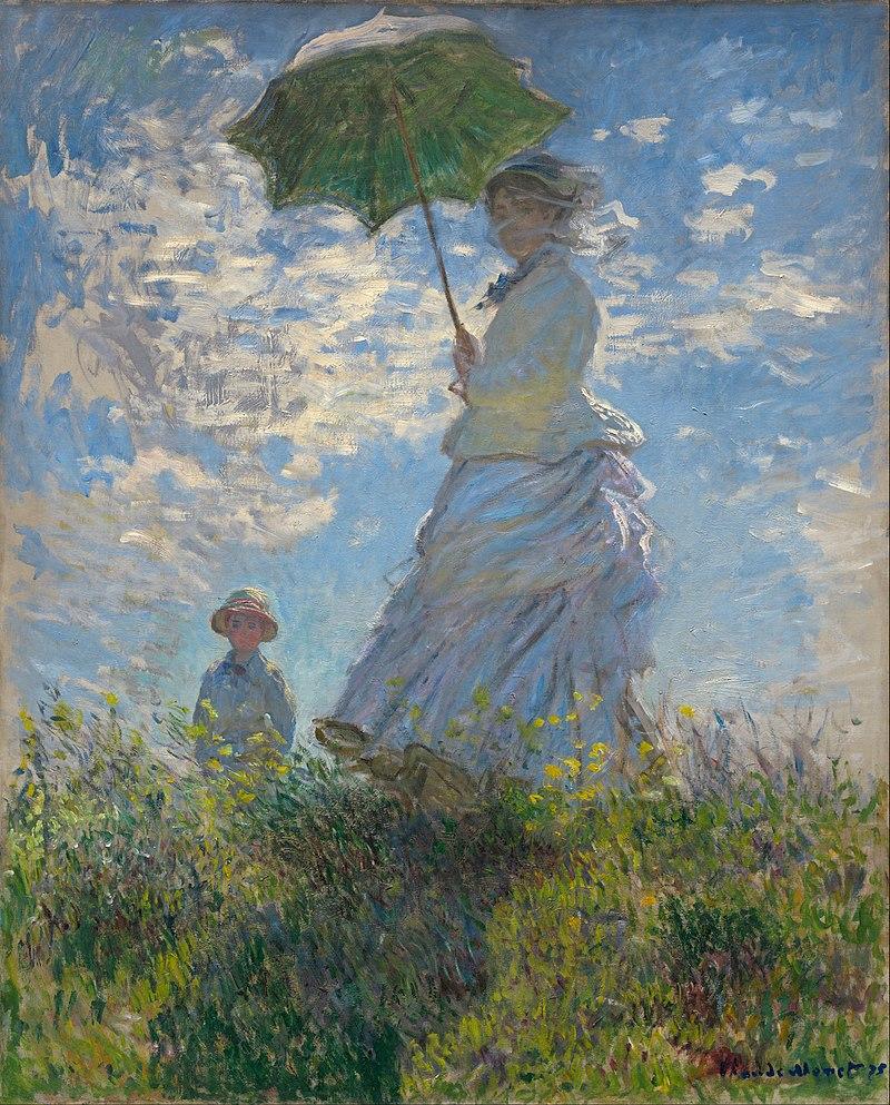 La Promenade, huile sur toile de Claude Monet (1875, National Gallery of Art).  (définition réelle 6001×7455)