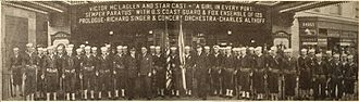A Girl in Every Port (1928 film) - Coast Guard officers at Fox Theater in Washington D.C. (c. 1928)