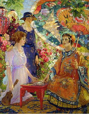 English: Fortune Teller, Colin Campbell Cooper...