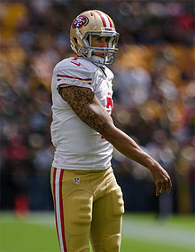 Colin Kaepernick - the cool, hot,  American Football player  with Afro-American roots in 2020