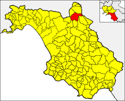 Colliano within the Province of Salerno