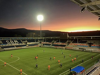 Aalesunds FK - Color Line stadium in January 2018.