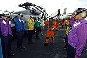 Coloured flight deck jerseys