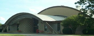Columbus Senior High School - Main Entrance To CHS (2007)