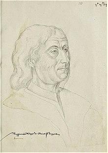 Philippe de ComminesPortrait à la sanguine dans le Recueil d'Arras(Bibliothèque municipale d'Arras)