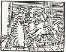 Incisione dal Compendium maleficarum (1606)
