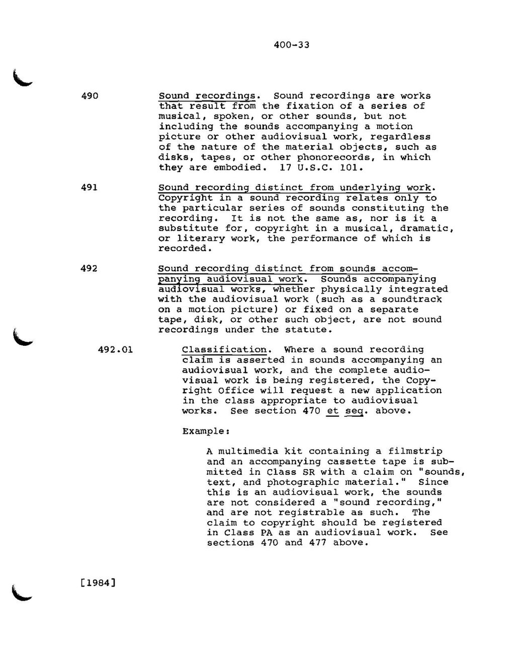 Page:Compendium of US Copyright Office Practices, II (1984) pdf/109