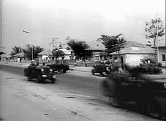 1960 Force Publique mutiny - Force Publique troops on the streets of Léopoldville during the mutiny