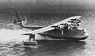 Consolidated PB2Y Coronado - The XPB2Y-1 prototype with a single tail in 1938.