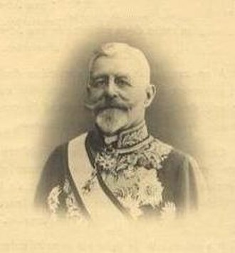 Civic Decoration - Baron Auguste Goffinet, a recipient of the Civic Cross 2nd class