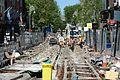 Construction of a new tram line in Dublin 07.jpg