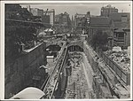 Construction of railway tunnels for the Sydney Harbour Bridge, 1928 (8282697211).jpg