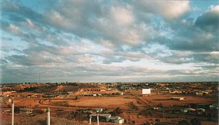 Coober Pedy Town in South Australia