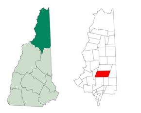 Poziția localității Berlin, New Hampshire