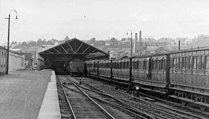 Cork Albert Quay railway station - Image: Cork, Albert Quay station; Cork, Bandon & South Coast Railway, 1948 (geograph 5307072)