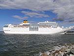 Costa neoRomantica Starboard Side Tallinn 20 July 2013.JPG
