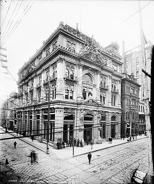 New Orleans Cotton Exchange - 1883 New Orleans Cotton Exchange building c. late 1890s