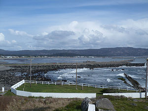 Crescent City, California - View of Crescent City Harbor from Battery Point Lighthouse