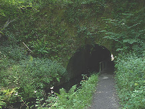 Cromford Canal - Gregory Tunnel entrance near Lea Wood