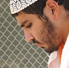 Cropped - Yaser Esam Hamdi in Camp X-ray, Guantánamo Bay, Cuba - 20020404 (cropped).jpg