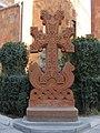 Cross-Stone from Hovanavank, 12c., replica, Surb Hovanes Church, Yerevan, Armenia - panoramio.jpg