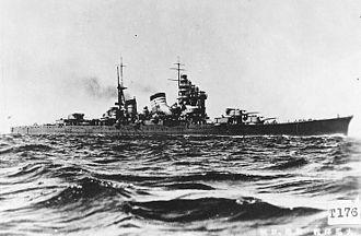 Heavy cruiser - IJN Haguro of the Myoko class
