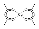 Scheme 1. Structure of copper(II) acetylacetonate