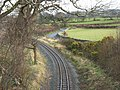 Curving track at the approach to the Cae Moel overbridge - geograph.org.uk - 730674.jpg
