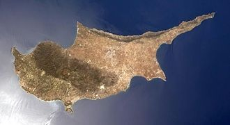 Geography of Cyprus - Satellite image of Cyprus in 2013