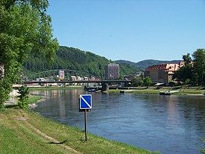 Děčín, Tyršův most, od Podmokel.jpg