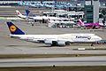 D-ABYI - Lufthansa - Boeing 747-830 - Fanhansa Siegerflieger Livery - ICN (17209244226).jpg